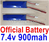Wltoys F500.0013 Battery Packs, 7.4V 900mah Battery(2pcs)
