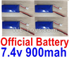 Wltoys F500.0013 Lipo Battery 7.4V 900mah Battery(4pcs)