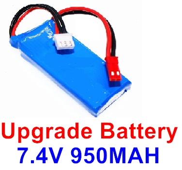 Wltoys F500.0013 Upgrade Battery 7.4V 1000mah Battery(1pcs)-Size-59X29.5X14mm