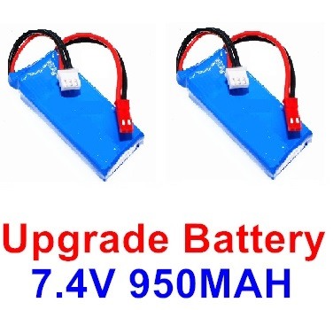 Wltoys F500.0013 Upgrade rc Battery Packs. 7.4V 900mah Battery(2pcs)-Size-59X29.5X14mm