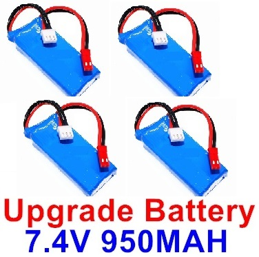 Wltoys F500.0013 Upgrade 7.4V 1000mah Battery(4pcs)-Size-59X29.5X14mm