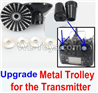 Wltoys F500.0014-03 Upgrade Metal Trolley for the Transmitter-Black(Can be used for XK A1200)
