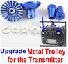 Wltoys F500.0014-04 Upgrade Metal Trolley for the Transmitter-Blue(Can be used for XK A600)