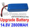 Feilun FT011 Parts-Upgrade 14.8V 2800mah 30C Battery-(SIZE-103X35X31MM,Weight-226g),Feilun FT011 RC Boat Parts