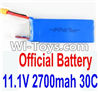 WLTOYS WL913 Boat Parts-17 Official 11.1V 2700MAH 30C battery For WLtoys WL913 Boat(1pcs) For WLtoys WL913 2.4G Brushless Motor Water-Cooling System RC Racing Boat Parts