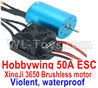 DHK Crosse Parts-Brushless motor and ESC Parts-Hobbywing 50A ESC and XinjI 3650 Brushless motor(Violent, waterproof) Parts,DHK Crosse 8136 RC Car Parts,DHK Hobby Crosse 8136 Parts