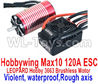 DHK Maximus ESC Motor Parts--Hobbywing Max 10 120A ESC and LEOPARD Hobby 3663 Brushless Motor(Violent,waterproof,Rough axis) Parts,DHK Hobby Maximus 8382 Parts,DHK 8382 RC Truck Parts