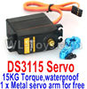 DHK Maximus Parts-DS3115 Servo-15KG Torque(1 x Metal servo arm for free)-waterproof Parts,DHK Hobby Maximus 8382 Parts,DHK 8382 RC Truck Parts
