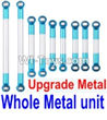 FeiYue FY03 FY-03 Whole Upgrade Metal Rodunit(Include the 21-04 21-06 21-08 21-10 21-11 Metal Rod)-9pcs Parts-,FeiYue FY03 Parts