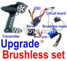FeiYue FY03 FY-03 Upgrade Brushless set(Include the Transmitter,Brushless motor,ESC,Servo,Motor gear,Circuit board) Parts-,FeiYue FY03 Parts