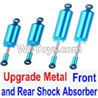 FeiYue FY03 FY-03 Upgrade Metal Front and Rear Shock Absorber(Total 4pcs) Parts-,FeiYue FY03 Parts