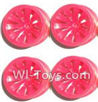 Subotech BG1504 Car Spare Parts-27-04 Big Wheel Hub(4pcs)-Red-(Not include the Trie Lether),Subotech BG1504 RC Car Spare parts Accessories,1:16 2WD BG1504 RC Racing Car parts,High Speed Drifting Buggy Parts