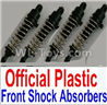 Wltoys 10402 10402.0880 10428-2.0340 Plastic Front and Rear Shock Absorbers(4pcs)