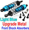 Wltoys 10402 Upgrade Metal Front Shock Absorbers(2pcs)-Light Blue