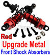 Wltoys 10402 Upgrade Metal Front Shock Absorbers(2pcs)-Red