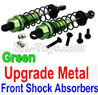 Wltoys 10402 Upgrade Metal Front Shock Absorbers(2pcs)-Green