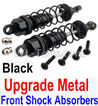 Wltoys 10402 Upgrade Metal Front Shock Absorbers(2pcs)-Black