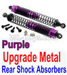 Wltoys 10402 Upgrade Metal Rear Shock Absorbers(2pcs)-Purple