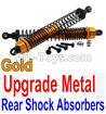 Wltoys 10402 Upgrade Metal Rear Shock Absorbers(2pcs)-Gold