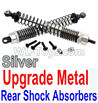 Wltoys 10402 Upgrade Metal Rear Shock Absorbers(2pcs)-Silver