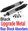 Wltoys 10402 Upgrade Metal Rear Shock Absorbers(2pcs)-Black