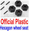 Wltoys 10428-C2 K949-12 Official Plastic 12MM Hexagon wheel seat,Tire adapter(4pcs)