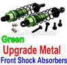 Wltoys 10428-C2 Upgrade Metal Front Shock Absorbers(2pcs)-Green
