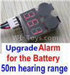Wltoys 10428-C2 Upgrade Alarm for the Battery,Can test whether your battery has enouth power