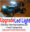 Wltoys 10428-C2 Upgrade LED light unit(Total 6pcs Light and 1pcs 1-TO-2 Y-shape connect wire)