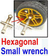 Wltoys 10428-B Hexagonal small wrench(Can be used for M2, M2.5, M3, M4 nut specifications)