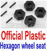 Wltoys 10428-B Official Plastic 12MM Hexagon wheel seat,Tire adapter(4pcs)