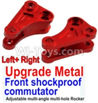 Wltoys 10428-B Upgrade Metal Front shockproof commutator(Left and Right)-Red