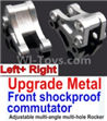 Wltoys 10428-B Upgrade Metal Front shockproof commutator(Left and Right)-Silver