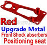 Wltoys 10428-B Upgrade Metal Front Shock absorbers Positioning seat-Red
