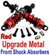 Wltoys 10428-B Upgrade Metal Front Shock Absorbers(2pcs)-Red