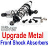 Wltoys 10428-B Upgrade Metal Front Shock Absorbers(2pcs)-Silver