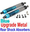 Wltoys 10428-B Upgrade Metal Rear Shock Absorbers(2pcs)-Blue