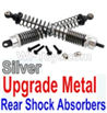 Wltoys 10428-B Upgrade Metal Rear Shock Absorbers(2pcs)-Silver