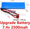 Wltoys 10428-B Upgrade 7.4v 2500mah 25C battery with T-shape plug(Size-101.6X32.8X14.3MM)-(Weight-106.3g)