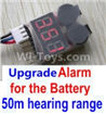 Wltoys 10428-B Upgrade Alarm for the Battery,Can test whether your battery has enouth power