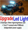 Wltoys 10428-B Upgrade LED light unit(Total 6pcs Light and 1pcs 1-TO-2 Y-shape connect wire & 1600MAH Independent power supply) For Wltoys K949 Rc Car Parts,High speed 1:10 Scale 4wd Car Part