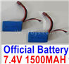 Wltoys 124012 Battrey Parts-Official 7.4V 1500mAh 25C Battery-62x33.5x20mm(1PCS)-A959-B-23