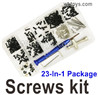 Wltoys 124016 Upgrade Screws Assembly kit Parts. Include most of the Screws, Screws driver, Pins, Nut, etc.
