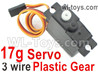 Wltoys 124016 Upgrade Servo. The Torque is 17g with 3 Wire.