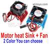 Wltoys 124016 Upgrade Motor Heat Sink + Fan for the Motor.