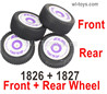 Wltoys 124019 Wheel Tires unit. 2 set Front + 2 Set Rear