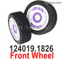 Wltoys 124019 Front Wheel Tires unit. 124019.1826