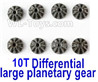 Wltoys 124019 Metal 10T Differential large planetary gear(8pcs)-124019.1271