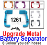 Wltoys 124019 Upgrade Metal Battery Separator group Parts. 124019.1261