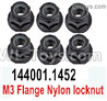 Wltoys 124018 Flange nut, Total 6pcs. 124018.1452.